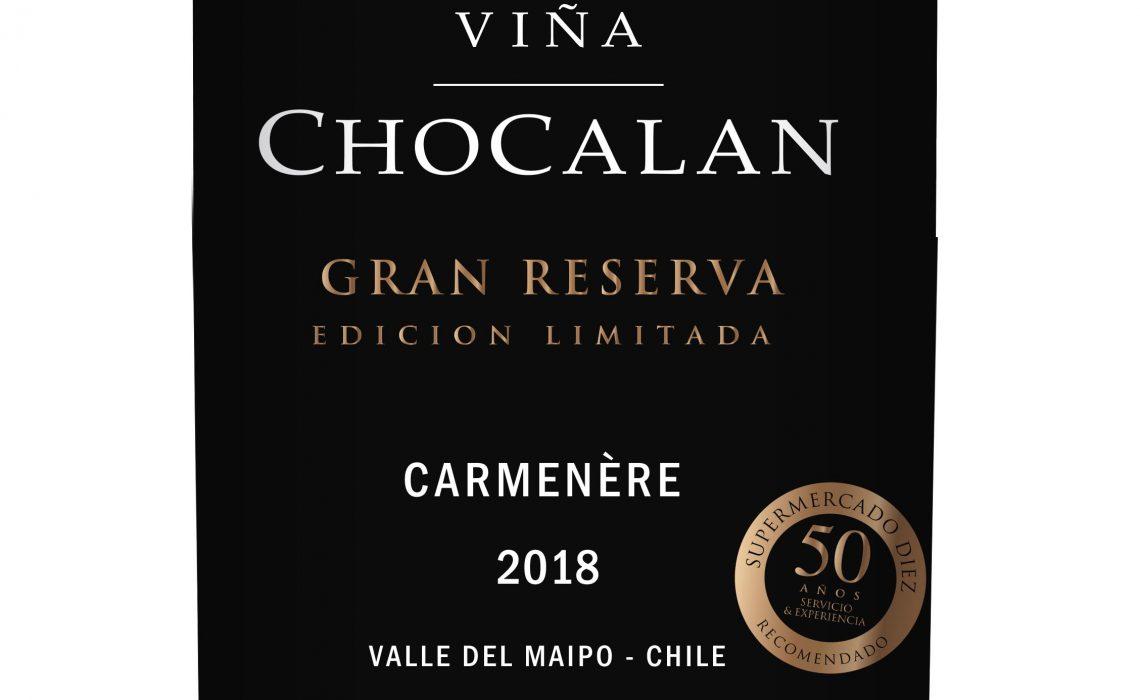 Viña Chocalán crea nuevo vino Gran Reserva especialmente para SUPERMERCADO DIEZ