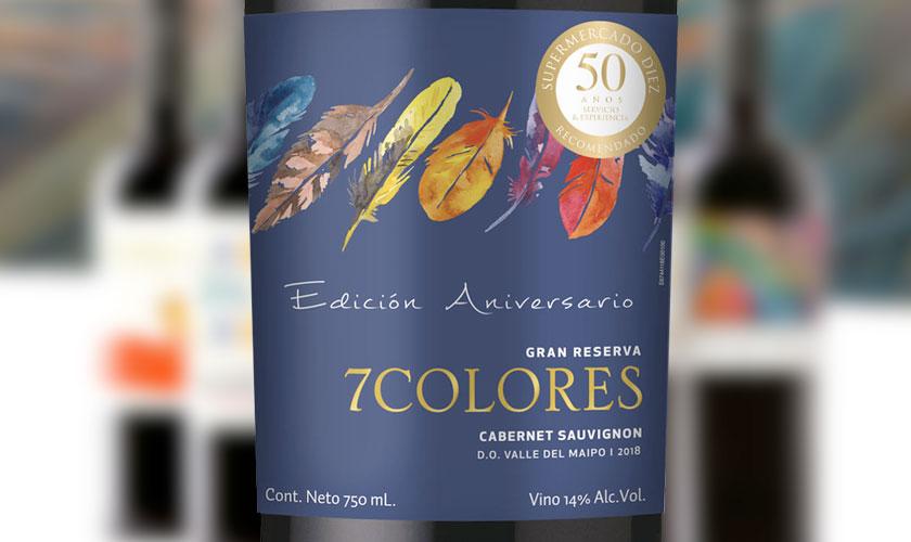 Viña 7Colores crea Cabernet Sauvignon para Supermercado Diez