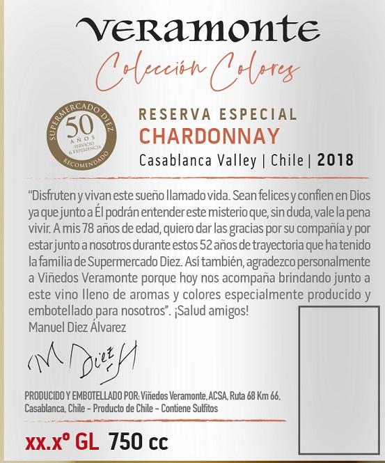 """Viñedos Veramonte agregó un nuevo vino a su línea exclusiva """"Colección Colores Reserva Especial"""" especialmente para SUPERMERCADO DIEZ"""