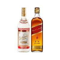 Bar, Stolichnaya 1L+  Johnnie Walker Red Label 750cc
