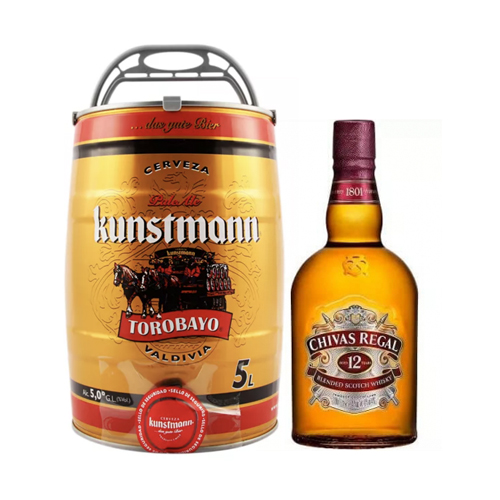 Bar, Barril Kunstmann 5 litros + Chiva Regal 1L