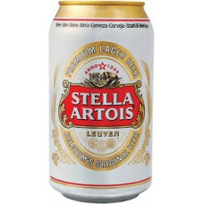 Caja de 12 unidades Stella Artois lata 330cc ($665 c/u)