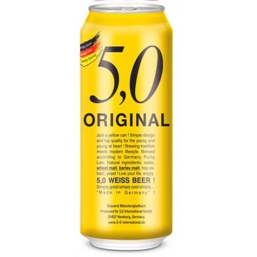 24 Cervezas Alemanas 5.0 Weissbier , 500cc ($583 c/u)