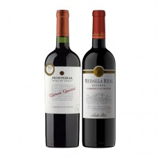 Pack 6 botellas Montgras Reserva Especial Cabernet Sauvignon + 6 botellas Santa Rita Medalla Real Reserva Cabernet Sauvignon ($2.990 c/u)