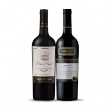 Pack 6 botellas Pérez Cruz Reserva Cabernet Sauvignon + 6 botellas Santa Ema Gran Reserva Merlot   ($4.990 c/u)