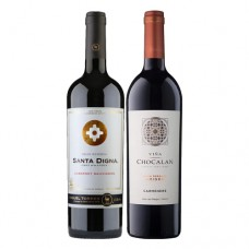 Pack 6 botellas Santa Digna Gran Reserva Cabernet Sauvignon + 6 Chocalan Gran Reserva Origen Carmenere ($3.990 c/u)