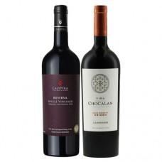 Pack 6 Calyptra Reserva Single Vineyard Cabernet Sauvignon + 6 Chocalan Gran Reserva Origen Carmenere ($3.990 c/u)