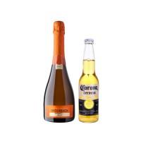 Bar, 6 Botellas de Espumante Undurraga Brut + 12 Corona 330cc