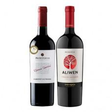 BS Pack 6 botellas MontGras Reserva Especial Cabernet Sauvignon + 6 Undurraga Reserva Aliwen ($2.499 c/u)