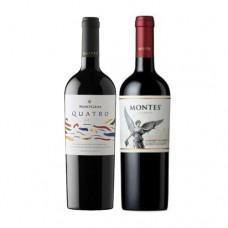 BS 6 MontGras Quatro + 6 Montes Reserva Cabernet Sauvignon ( $3.590 c/u)