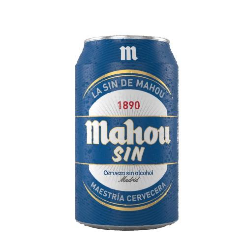 Caja de 6 unidades Cerveza Mahou sin alcohol 330 ml ($690 c/u)
