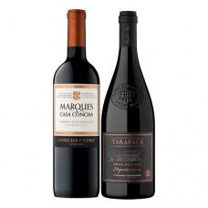 Pack 6 botellas Marqués de Casa Concha Cabernet S + 6 Tarapacá Gran Reserva Etiqueta Negra ($7.990 c/u)