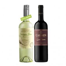 Pack 6 botellas Casas del Bosque Winemakers Selection Sauvignon Blanc + 6 Carmen Gran Reserva Cabernet Sauvignon ($3.990 c/u)
