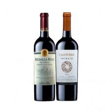 Pack 6 botellas Medalla Real Cabernet Sauvignon + 6 botellas Caliterra Tributo Carmenere ( $3.990 c/u)