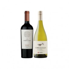 Pack 6 botellas Chocalan Gran Reserva Carmenere + 6 Corralillo Sauvignon Blanc ($3.990 c/u)