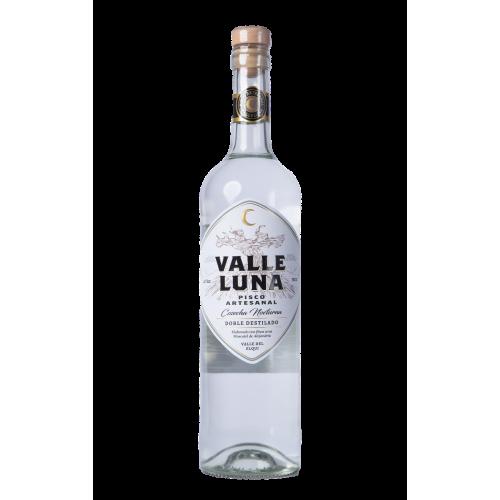 Pisco artesanal Valle Luna, doble destilado