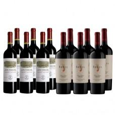 Pack 6 unidades Los Vascos Reserva Cabernet Sauvignon + 6 Sutil Gran Reserva Carmenere ($3.990 c/u)