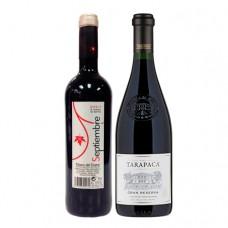Pack 6 botellas Septiembre Tempranillo + 6 Tarapacá Gran Reserva Cabernet Sauvignon ($5.990 c/u)