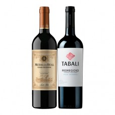 Pack 6 botellas Medalla Gran Reserva Real Carmenere + 6 Tabali Gran Reserva Cabernet Sauvignon ($4.990 c/u)