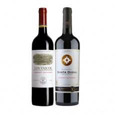 Pack 6 botellas Los Vascos Reserva Cabernet Sauvignon + 6 Miguel Torres Santa Digna GR Cabernet Sauvig. ($3.990 c/u)