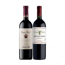 Pack 6 botellas Casa Real Cabernet Sauvignon + 6 Montes Alpha Cabernet Sauvignon ($7.990 c/u)