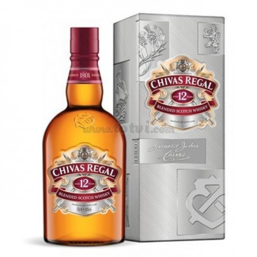 Whisky Chivas Regal 750cc , 12 años