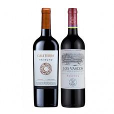 Pack 6 botellas Caliterra Carmenere + 6 Botellas de Los Vascos Reserva Cabernet Sauvignon ($3.990 c/u)