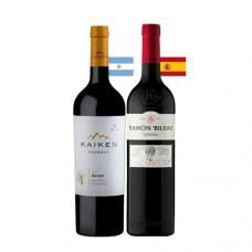 Pack 6 botellas Kaiken Malbec + 6 Ramón Bilbao Crianza ($4.990 c/u)