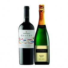 Pack 6 botellas MontGras 4 + 6 botellas Espumante Finca Flichman ($3.990 c/u)