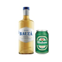 Bar, 2 Pisco Bauza 1L + 24 Cervezas Mahou lata 330cc
