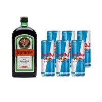 Bar, Jagermiester + 6 latas de Red Bull Light