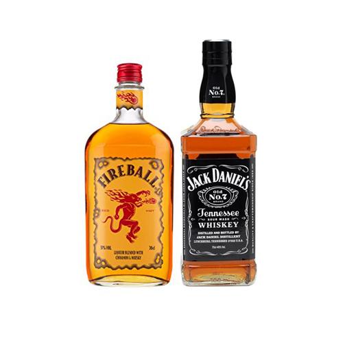 Bar, Whisky Fire Ball 750cc + Whisky Jack Daniels 750cc