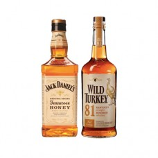 Bar, Whisky Jack Daniels Honey 750cc + Whisky Wild Turkey 750cc