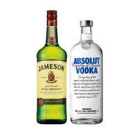 Bar, Whisky Jameson 750cc + Vodka Absolut Blue 1L
