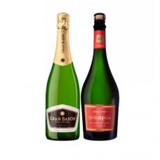 Pack 6 botellas Cava Gran Baron Brut Nature + 6 Espumantes Undurraga Extra Brut ($3.990 c/u)