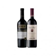 Pack 6 botellas Santa Ema Gran Reserva Merlot + 6 Casa Real Cabernet Sauvignon ($6.990 c/u)