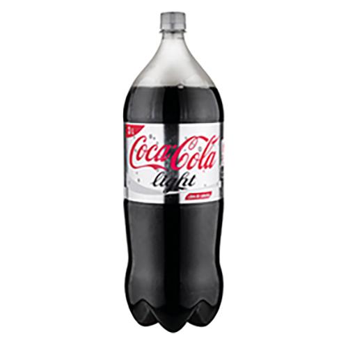 de 6 unidades coca cola light 3 lt.desechable