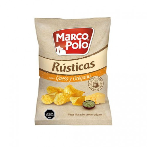 PAPAS FRITAS MARCO POLO QUESO OREGANO 200 GRS