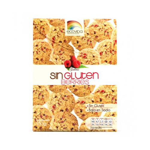 GALLETAS SIN GLUTEN BERRIES 150GRS.