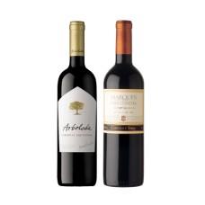 Pack 6 botellas Arboleda Cabernet Sauvignon + 6 Botellas de Marqués de Casa Concha Cabernet Sauvignon ($7.990 c/u)