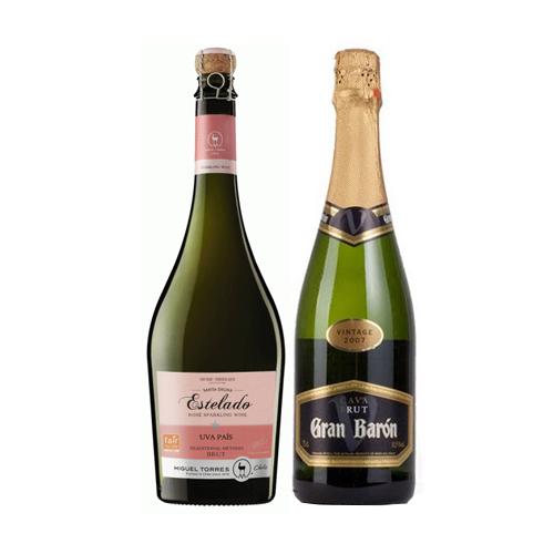 Pack 6 botellas Estelado Miguel Torres + 6 Botellas de Cava Baron Brut (ESPAÑA) ($4.990 c/u)