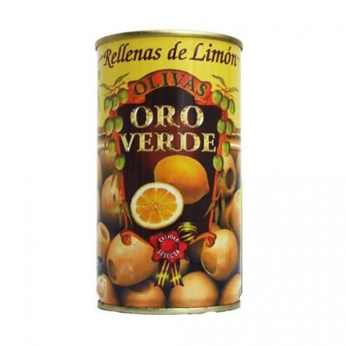 ACEITUNAS ORO VERDE RELLENAS DE LIMON 350 GRS