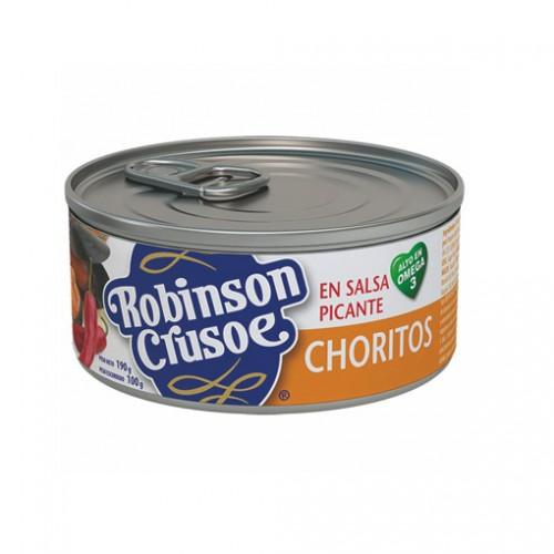 CHORITOS EN SALSA PICANTE ROBINSON CRUSOE 190 GR