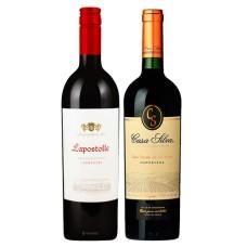 Pack 6 vinos Lapostolle Grand Seleccion Cabernet Sauvignon + 6 Casa Silva Los Lingues Carmenere