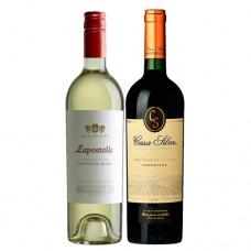 Pack 6 vinos Lapostolle Grand Seleccion Sauvignon Blanc + 6 Casa Silva Los Lingues Carmenere