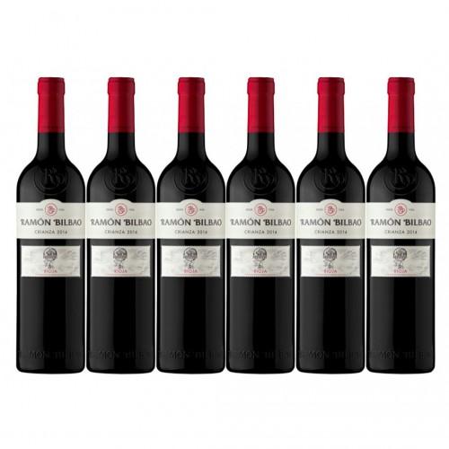Caja de 6 unidades Ramón Bilbao Crianza Tempranillo (La Rioja, España, $5.990 c/u)